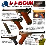レトロGUN タナカ ルガーP-08ネイビー・モデル