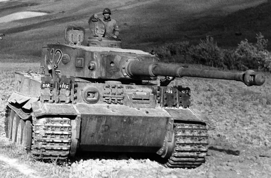 The tank is Tiger captured by Allied Forces in WWII near Tunis North Africa. MG Bennett commanded the ordinance intelligence unit, which arranged for its shipment to Aberdeen Proving Grounds, Maryland, where it resides in a museum.