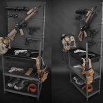 サバイバルゲームの装備を飾って収納できる「ハンドガンラック」が発売!