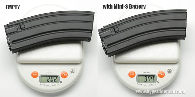 付属のバッテリー内蔵型30連マガジン
