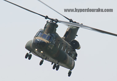 CH-47Jチヌーク輸送ヘリ CH-47JAチヌーク輸送ヘリ。 陸上自衛隊、航空自衛隊に配備され